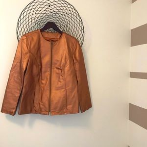 Beautiful copper coloured leather jacket 😍